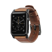 Nomad Horween Leather Strap for Apple Watch - Modern Build (Black Hardware)