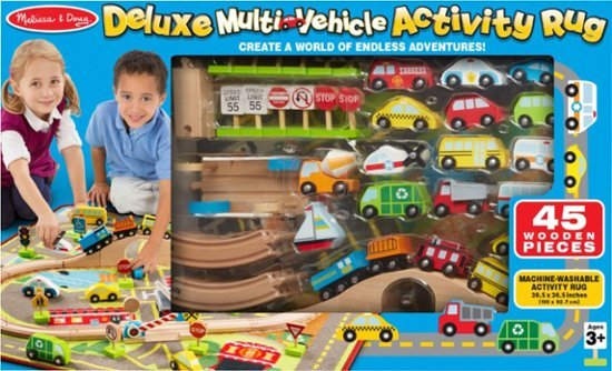 Melissa & Doug: Deluxe Multi Vehicle Activity Rug image