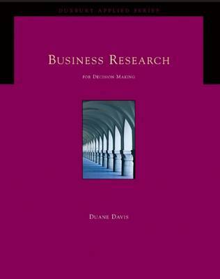 Business Research for Decision Making: With Info Trac by Duane L. Davis image