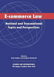 E-Commerce Law by Henk J. Snijders image