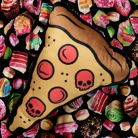 Sourpuss: Pizza Shaped Pillow image