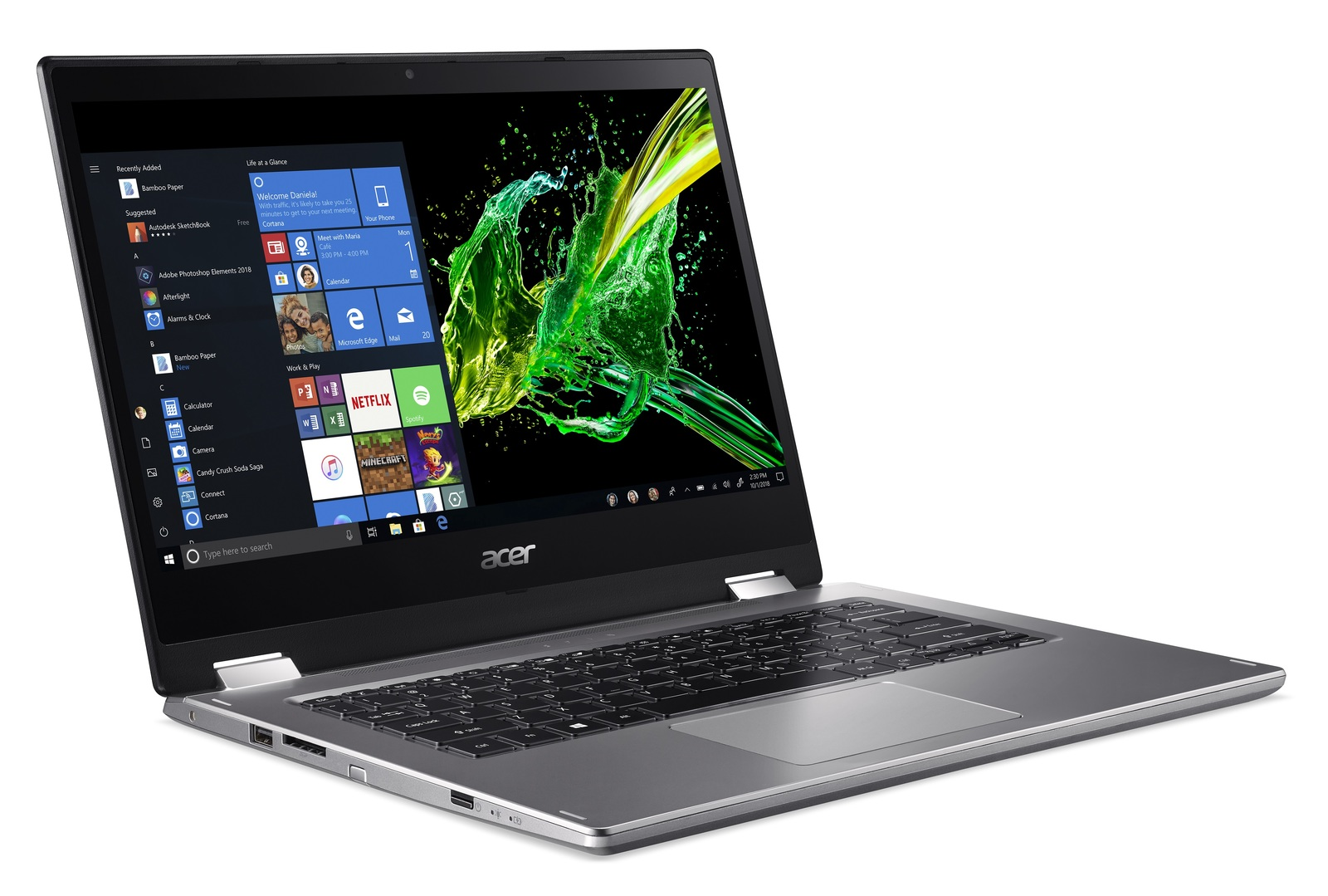 "14"" Acer Spin 3 i5 4GB 1TB Laptop image"