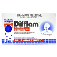 Difflam Plus Anaesthetic Lozenges - Menthol & Eucalyptus (16's)