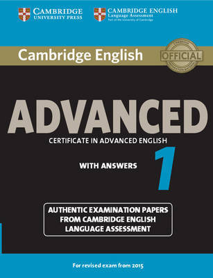 Cambridge English Advanced 1 for Revised Exam from 2015 Student's Book with Answers