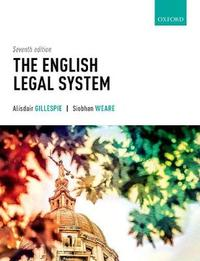 The English Legal System by Alisdair Gillespie
