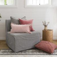Bambury Clay Velvet Feather Filled Cushion
