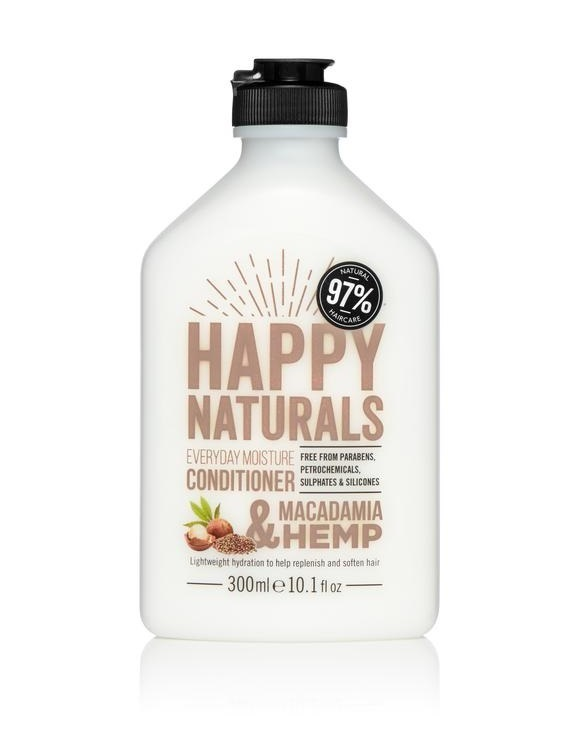 Happy Naturals: Everyday Moisture Conditioner - Macadamia & Hemp (300ml)