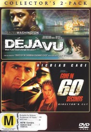 Deja Vu / Gone In 60 Seconds (2000) - Collector's 2-Pack (2 Disc Set) on DVD image