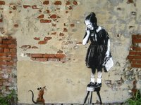 Urban Art Graffiti: 1,000 Piece Puzzle - Girl on a Stool