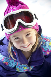 Ski Banz Arctic White Children's Ski Goggles image