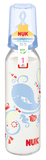 NUK: Classic Glass Bottle With Size 2 Teat - Blue (230ml)