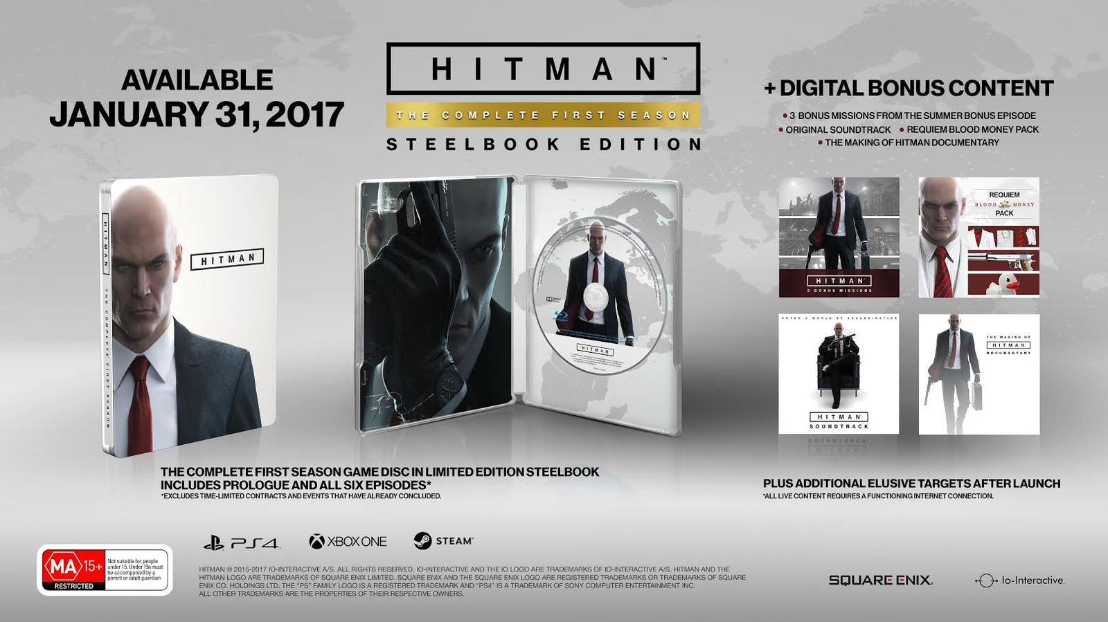 Hitman: The Complete First Season Steelbook Edition for Xbox One image