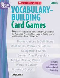Vocabulary-Building Card Games: Grade 3 by Liane B Onish image