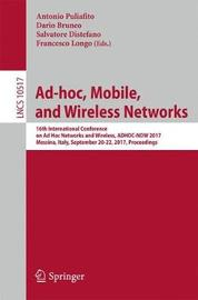 Ad-hoc, Mobile, and Wireless Networks image
