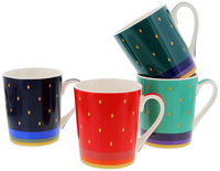 Casa Domani: Saree - Conical 400ml Mugs (4 Set)