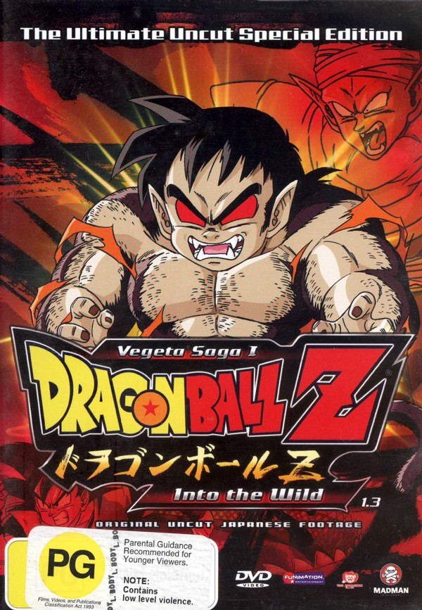 Dragon Ball Z Uncut: Vegeta Saga - Vol 1.3 - Into The Wild on DVD image