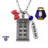 Doctor Who Stainless Steel Multi Charm Necklace