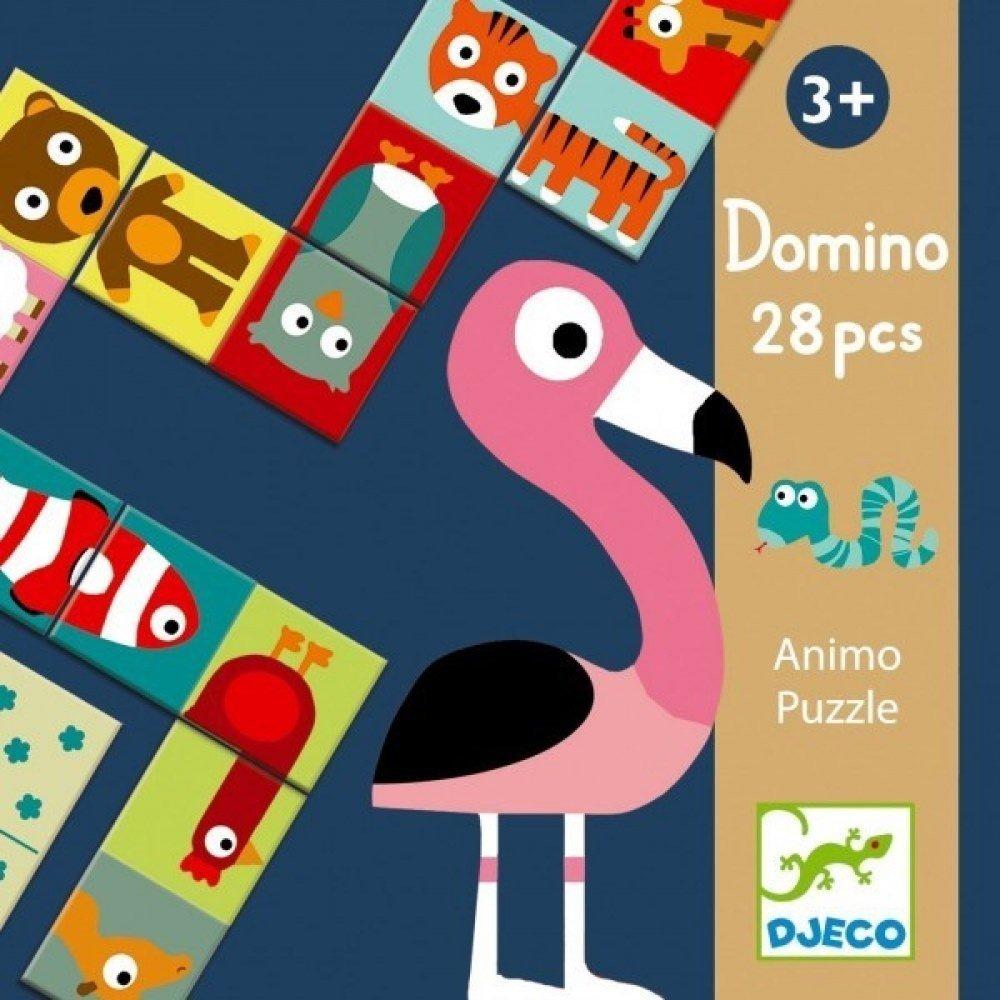 Djeco: 28pc Domino Animo Puzzle Game image