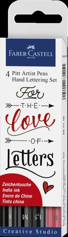 Faber-Castell: Pitt Artist Pens Hand Lettering (Set of 4)