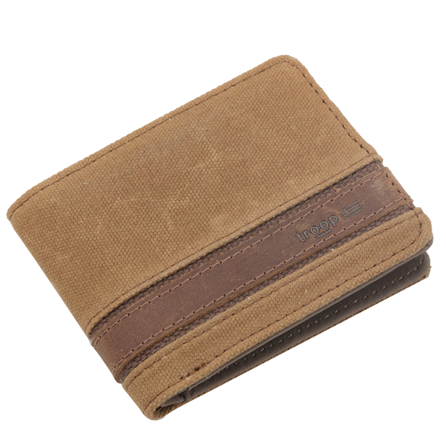 Troop London: Colorado Canvas Wallet - Camel image