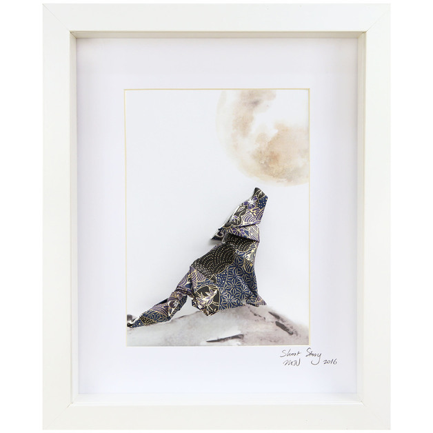 Wolf Small Frame (White)
