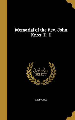 Memorial of the REV. John Knox, D. D image