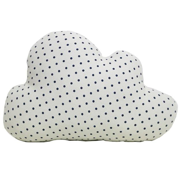 Cloud Cushion - White Polka Dot (Large)