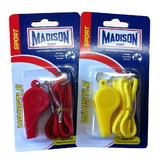 Madison: Plastic Whistle With Lanyard - Assorted Colours