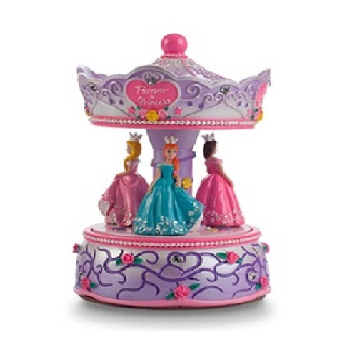 Pink Poppy: Forever a Princess Musical Carousel - Lilac image