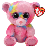 Ty Beanie Boo: Franky Pink Bear - Medium Plush