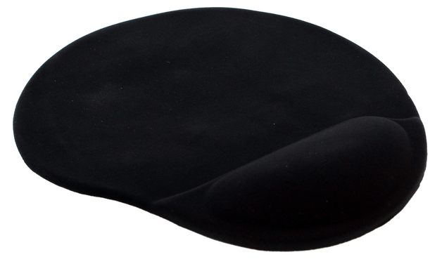 Mouse Pad with Gel Wrist Rest (Black)
