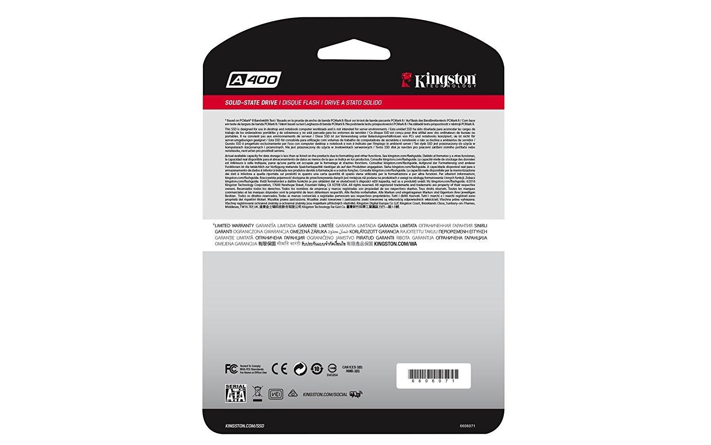 "Kingston: A400 240Gb Sata 3 2.5"" SSD image"