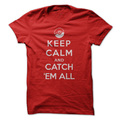 Pokemon Keep Calm And Catch Em All Youth T-Shirt (Small)