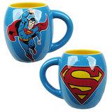 Superman Flying Blue Oval Mug