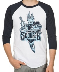World of Warcraft Icecrown Scourge Men's Raglan Shirt (Large)