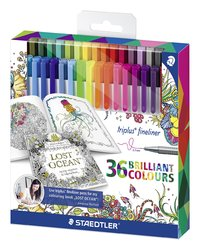 Staedtler - Triplus Fineliners Johanna Basford - Pack of 36