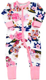 Bonds Zip Wondersuit Long Sleeve - Flower Market (6-12 Months)