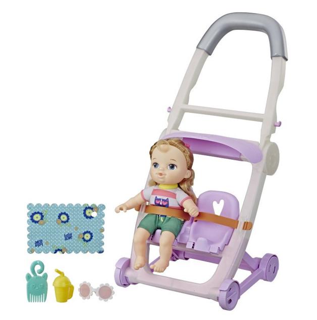 Baby Alive: Littles Roll & Kick Stroller - (Blonde Hair/Girl)