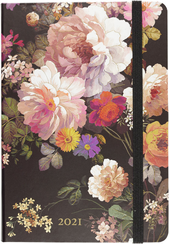 Peter Pauper Press: Midnight Floral 2021 Weekly Planner