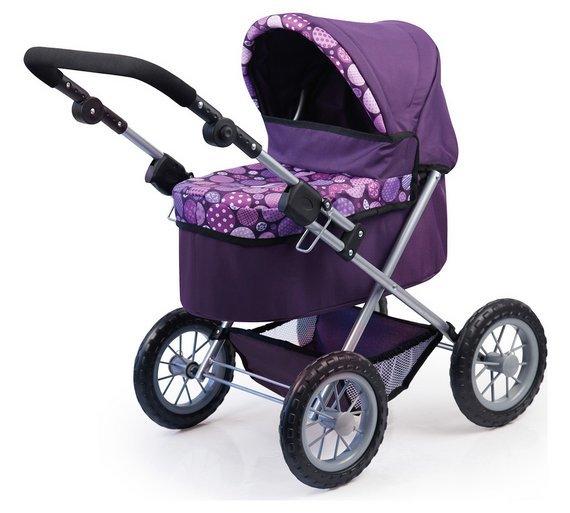 Bayer: Trendy Dolls Pram - Dark Purple image