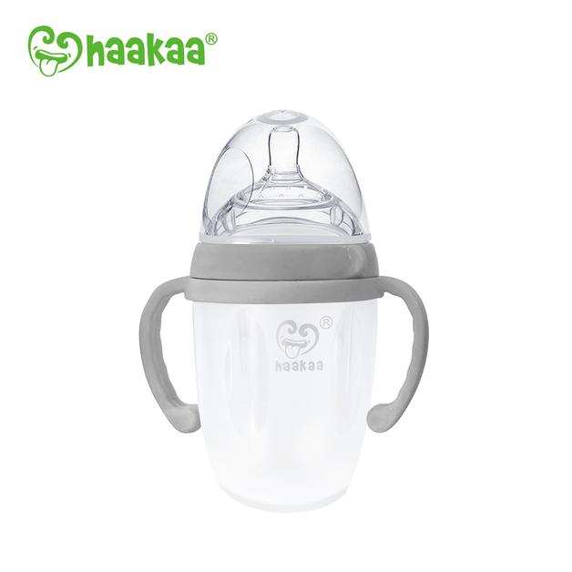 Haakaa: Silicone Baby Bottle - Grey (250ml)