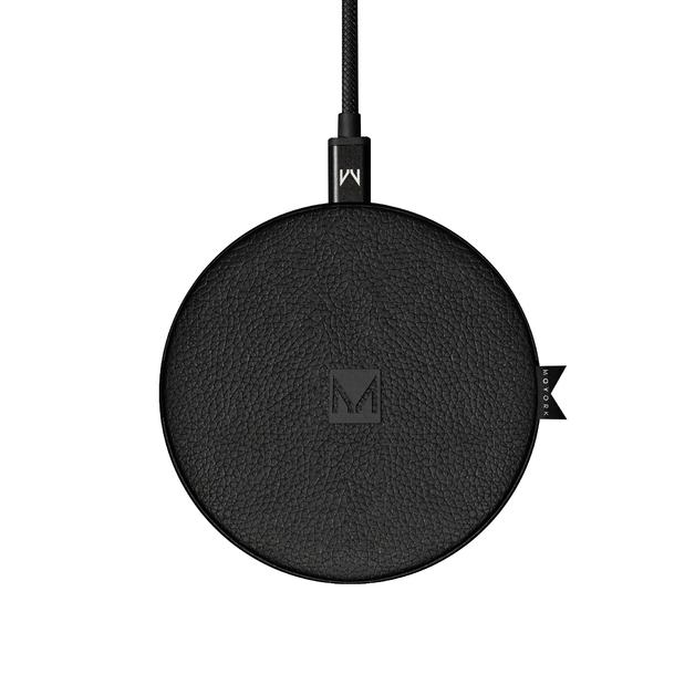 Moyork: WATT 5/7.5/10W QI Wireless Charger - Raven Black Leather