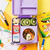 OmieBox Kids Thermos-Insulated Bento Box - Purple Plum