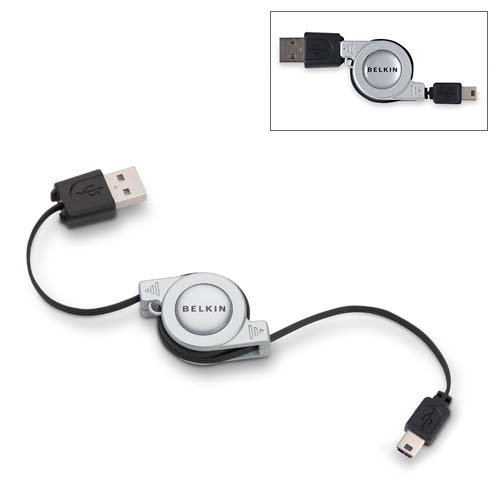 Belkin Retractable USB Mini Cable 5pin
