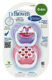 Dr. Brown's Stage 1 Dummie - 0-6 months Multi Colours (2 Pack)