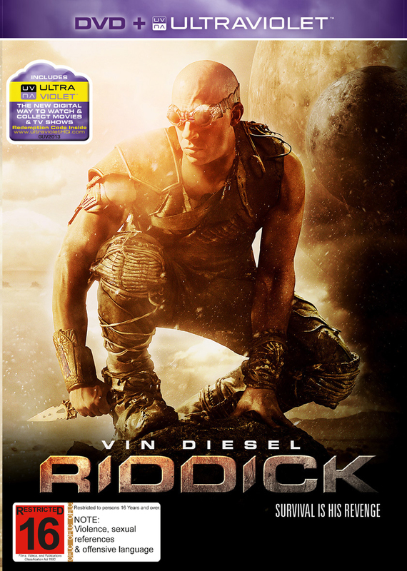 Riddick on DVD