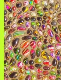 Neon Shades of the 80's Totally Bitchin' Stones Dot Grid Journal Notebook by Ahri's Notebooks & Journals