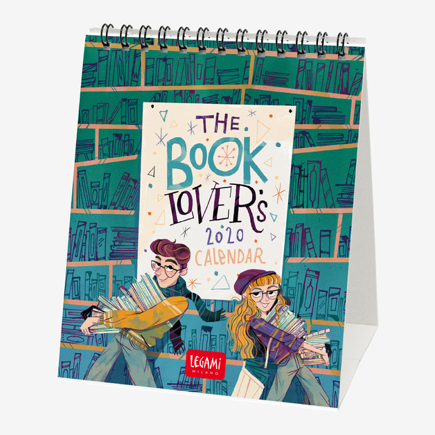 Legami: Book Lover's 2020 Desk Calendar