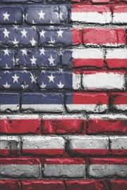American Flag Painted Brick by Delsee Notebooks image