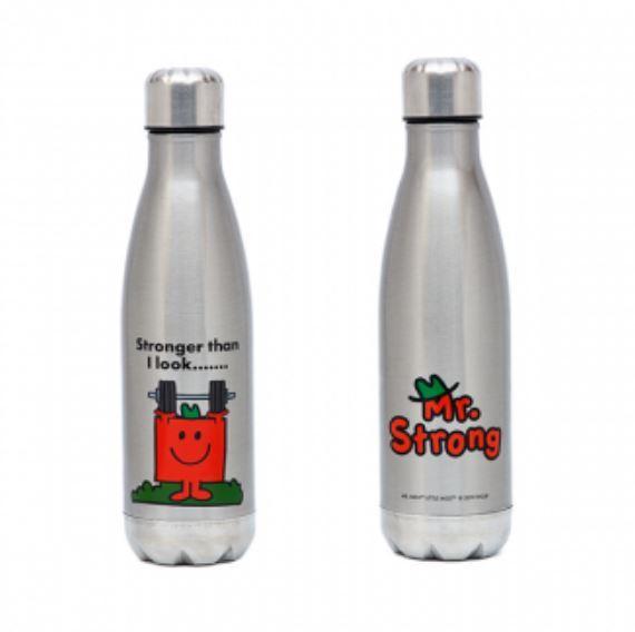 Mr. Men Little Miss: Mr. Strong Stainless Steel Drink Bottle